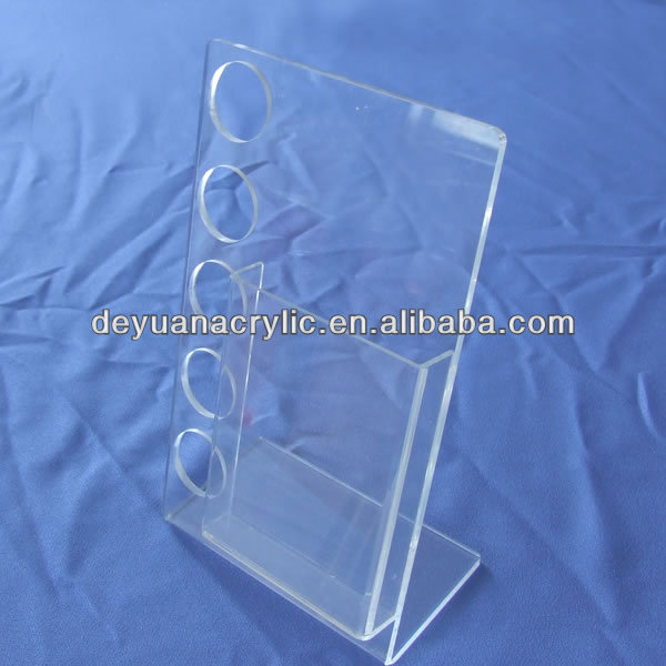 Clear Acrylic Sign Holder with Metal Pedestal Stand