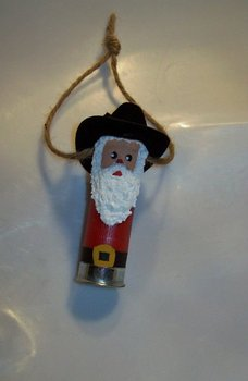 Shotgun Shell Santa Ornament