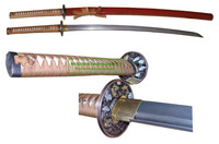 high quality damascus steel high carbon steel dragon handmade katana samurai sword HK056