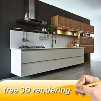 FREE 3D rendering ready made kitchen cabinets kitchen cabinets dubai