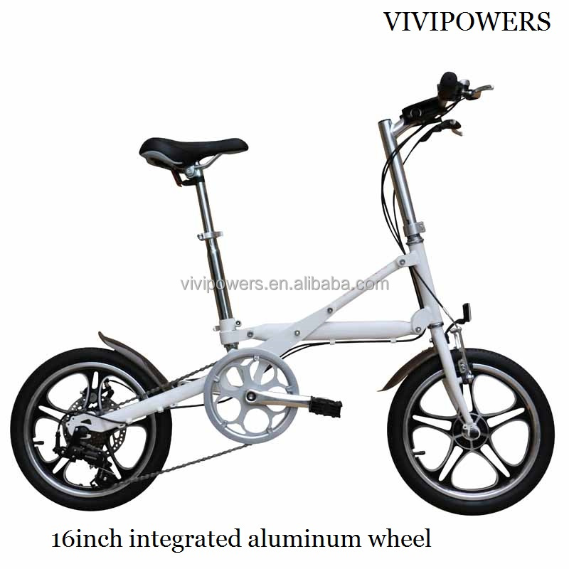 16inch Cheap Aluminum Folding Bike 7 Speed Folding Bicycle For Commuting
