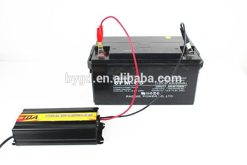 12v 10A high frequency lead acid battery charger / car battery charger with reverse connect