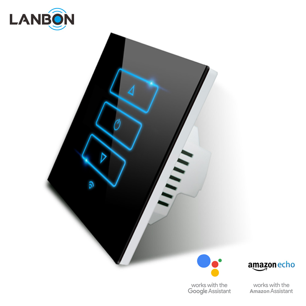 LANBON smart light switch 1/2 /3 gang WIFI Smart Switch with timming function can work with GOOGLE home & Amazon Alexa Echo