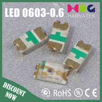 High quality 0.6T surface mount 25mA 0603 yellow green epistar cree chip led