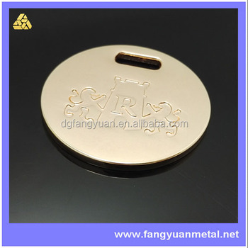 Bag accessory logo tag for evening bag