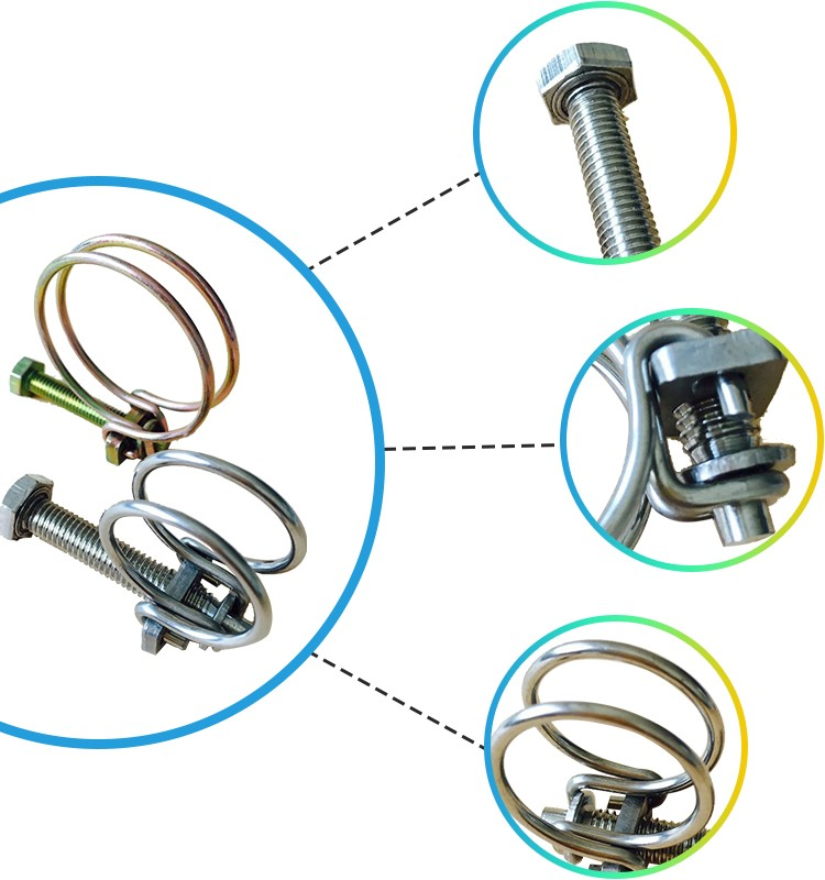 Small Diameter Cable : Small diameter wire drain cleaner hose spring clamp w
