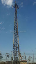Self supporting telecom microwave communication tower
