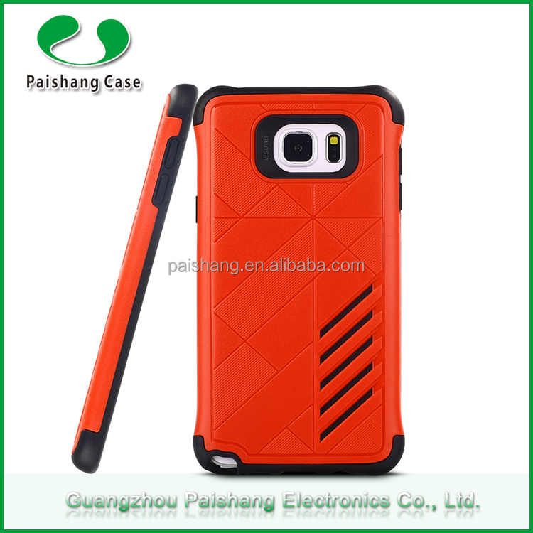 Colorful heavy duty kickstand case shockproof anti-friction 2 in 1 phone case for Samsung Note 5