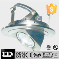 land lighting 4 inch recessed incandescend / led downlight low voltage retractable die casting trim