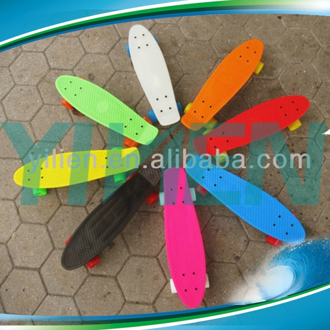 customized fish board cruiser,plastic skateboard completed