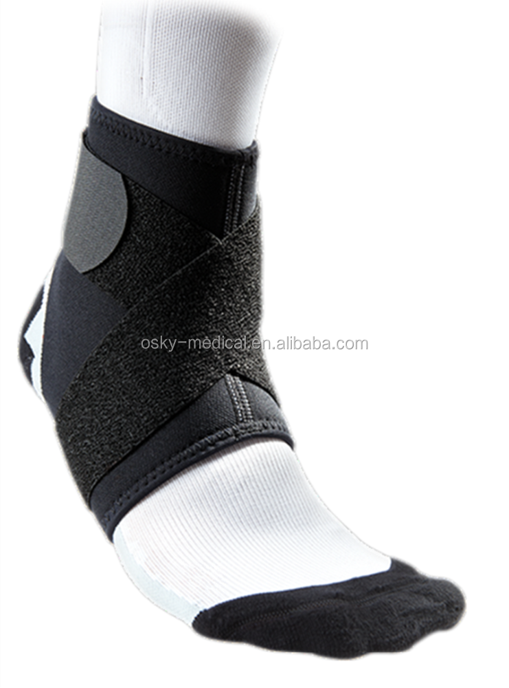 Adjustable elastic widding anti fatigue compression ankle support brace foot sleeve