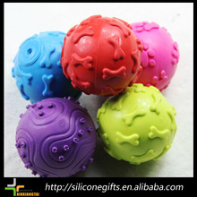 new promotion ball shape rubber latex dog toy