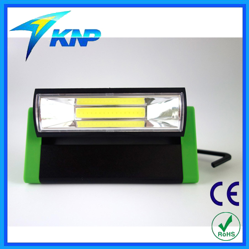 Triangular Prism COB Work Light With Built-in magnet work light with Hook