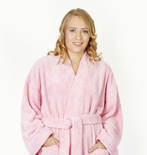 Kimono Women Microfiber Plush Fleece Kimono Bathrobe Soft Plush Bath Robe