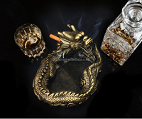 Polyresin ashtray Other gift & crafts Dragon ashtray for talbe decoration