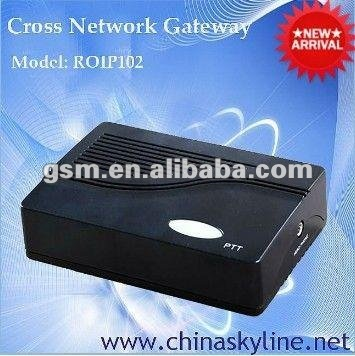NEW Cross-Network Gateway,RoIP-102(Radio over IP)/internet phone service