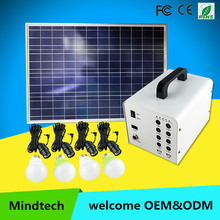 Mindtech new solar generator 480wh solar power led system home lighting widely used for DC TV and DC fan