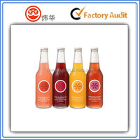 transparent juice bottle label
