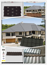 Zhaoqing factory stone coated residential roofing material/building material metal roof tile/building material roof tile