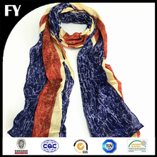 Factory custom new design quality assured hi-end digital print fan scarf
