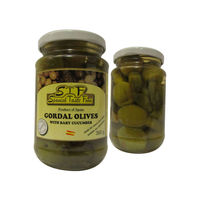 Spanish Green Olives Gordal with Cucumber