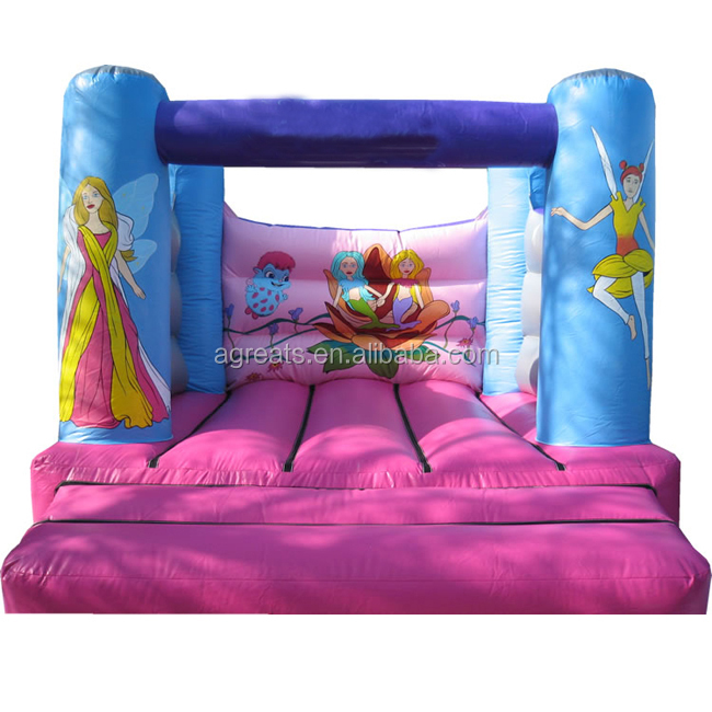 4mL*4mW bouncers inflatables with art panel for sale G1036