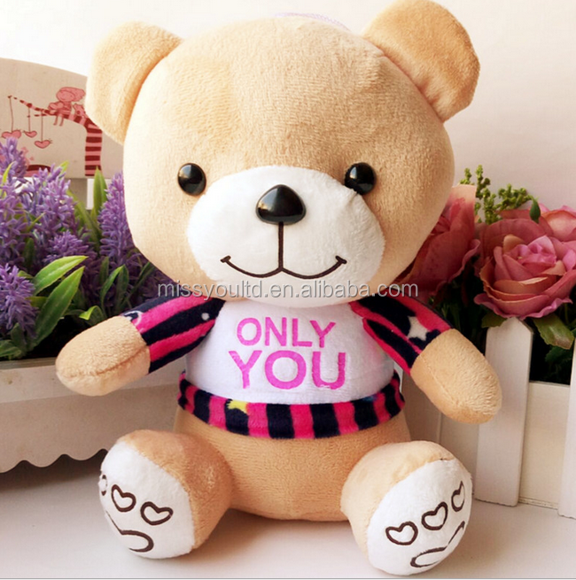 Professional Customized Bear Teddy With T-Shirt Add Your Own Logo