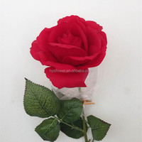 wholesale artificial big red rose flower from china