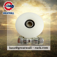 Steel pipe grooving machine luggage wheel plastic pulley v groove wheel bearing with labytinth seal wheel