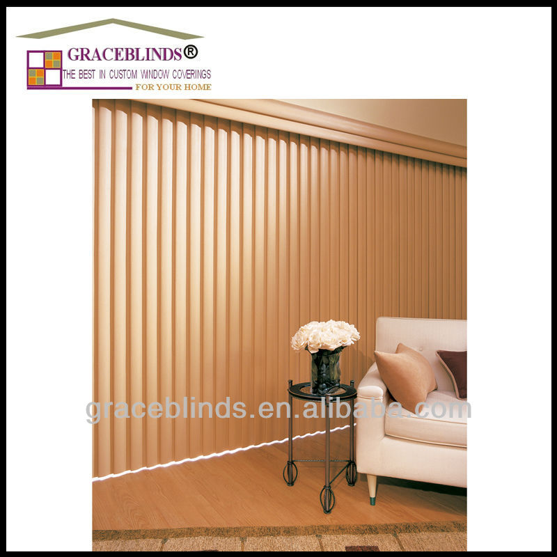 89mm basswood slats customer design wooden vertical coverings