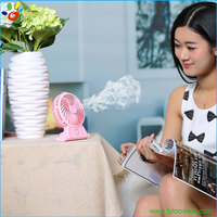 Wholesale portable water spray cooling mist electric humidifier fan