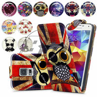 For Samsung Galaxy S5 High Quality Print Flip PU Leather Case Cover Mobile Phone Case