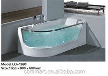 acrylic transparent bathtub with glass Tub bathtub Whirlpool Massage jets 0262-LG1680