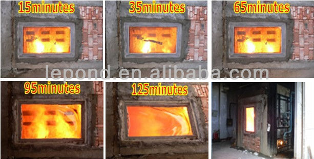 fire heat resistant tempered glass/ceramic fireplace glass