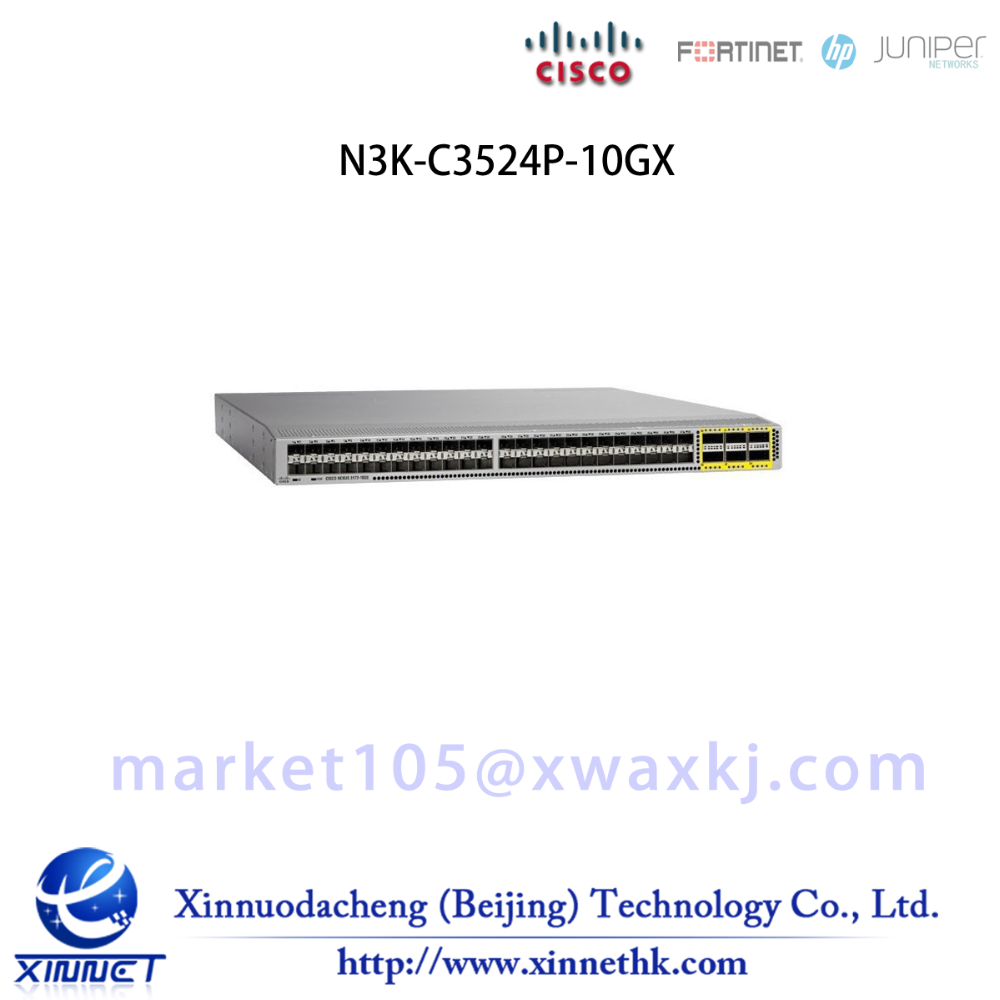 N3K-C3524P-10GX Cisco Nexus Switch Layer 2 and layer 3 - 24 x 10G SFP+ active Ethernet ports