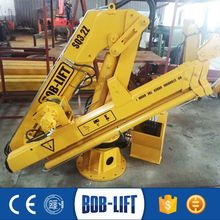 Compact Hydraulic Boom Ship Crane with Folding Arm Marine Crane