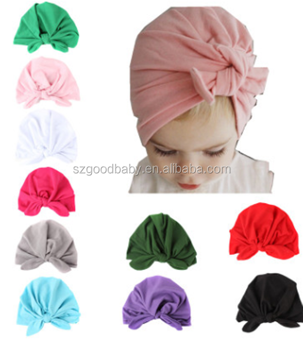mix colors organic cotton nylon kids hats baby turban <strong>headbands</strong>