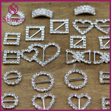 Eco-friendly Various shape crystal rhinestone buckles for wedding invitations chair sash