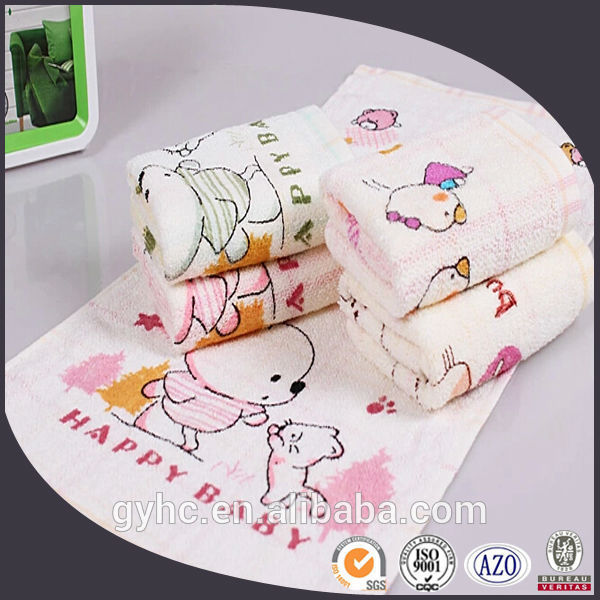 WHOLESALE 100% cotton soft child face towels printing cartoon