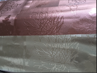 pvc bronze-coloured&Light gold color embossed table cloth