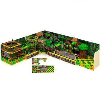 Children plastic commercial jungle playground indoor equipment for sale