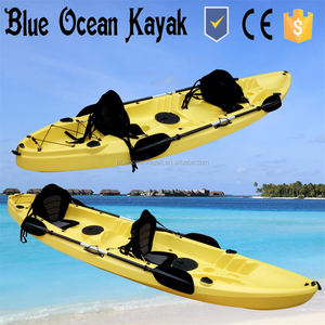 2015 hot sale Blue Ocean plastic kayak for two person/sea tour plastic kayak for two person/ocean fishing plastic kayak for two