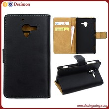 Genuine Leather Case Flip Cover Card Slot Wallet for Sony Xperia ZL L35h