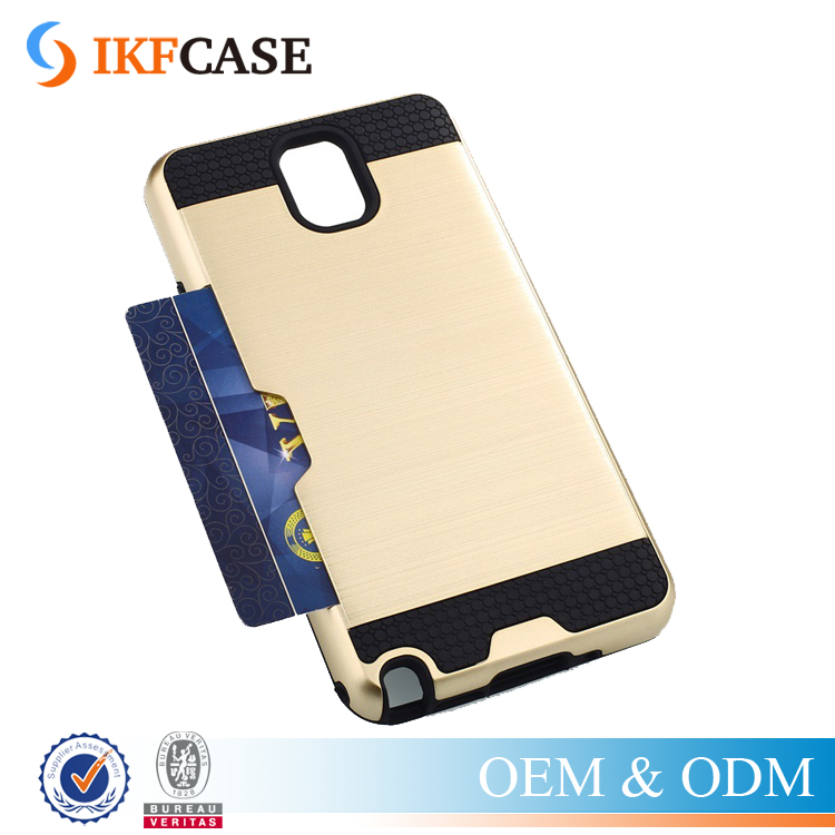 Wholesale TPU PC Armor Cover 2 in 1 Hybrid Phone Case With Card Slot for Samsung Galaxy Note 3 I9300