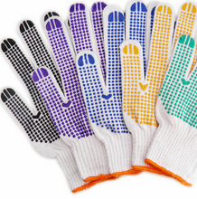 Cheap Cotton Gloves with Rubber Grip Dots for Safety Use