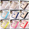 ultra thin transparent leather tablet case for ipad case, wholesale for apple ipad 6 leather case