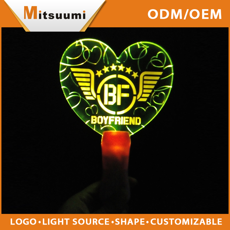 Red / white / yellow / blue / green color optional custom light stick glow stick