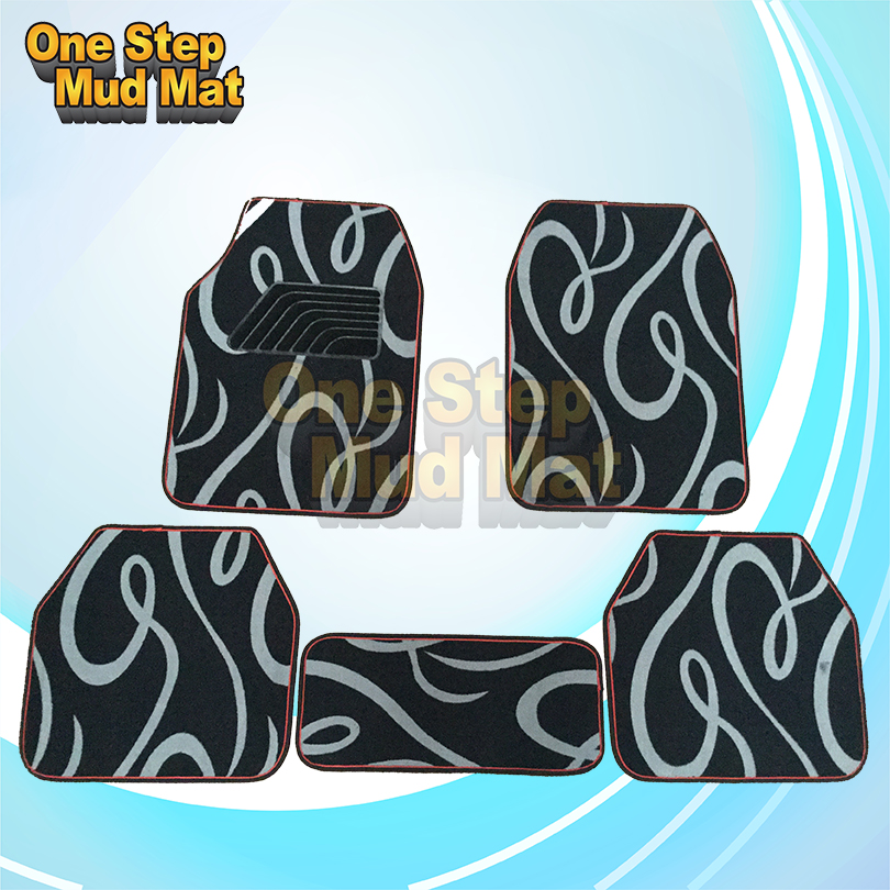 5pcs/set polyester flocked car floor mats with anti-skid bottom auto Interior Accessories Manufacturers