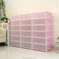 USA hot sale shoe cabinet new year gift colourful cube shoe cabinet (FH-AW241821-18)