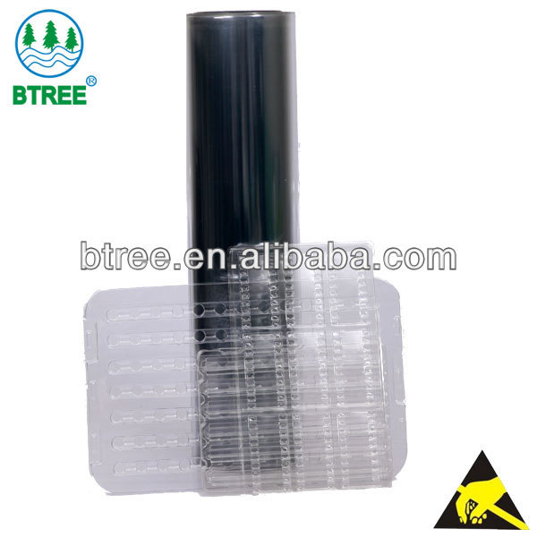 Btree Transparent APET Sheet Roll for Semicondutor with Antistatic Function